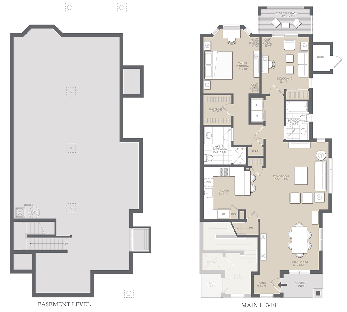 Home Floor Plans With Basement Residences Floor Plans The Seasons At Elwood